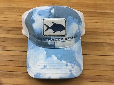 89c65eb7 GUY HARVEY AFTCO Mens Hat One Size Snap Back White Cloth Yellowfin ...