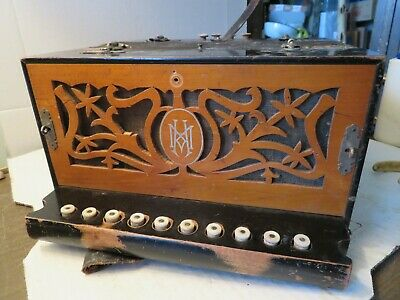 Vintage Hohner No 460 Vienna Folk Diatonic German 10 Button Accordion Key of A