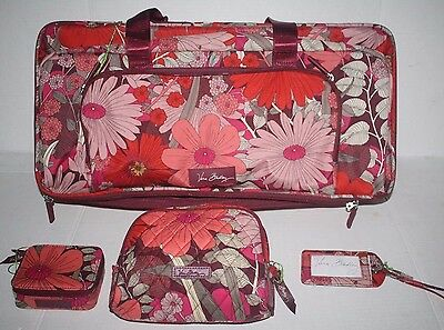 Vera Bradley Lighten UP Bohemian Blooms Wheeled Carry On Cosmetic Pill Tag NWT