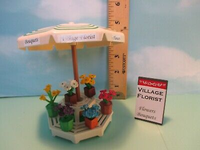Playmobil structure FLORIST DISPLAY STAND W/ UMBRELLA + 6 PLANTS + SIGN
