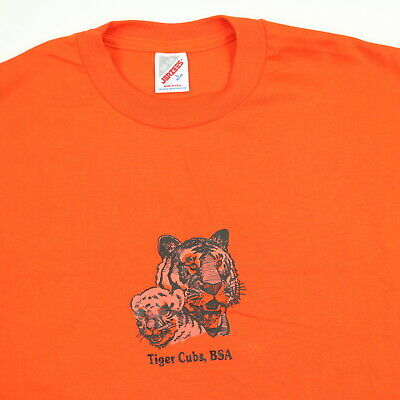 25ade937e6afe VINTAGE 80S TIGER Cubs Boy Scouts Single Stitch Ringer Tee - $14.95 ...