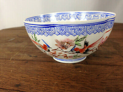 FINE CHINESE PORCELAIN THIN EGG SHELL BOWL And BOX SIGNED EGGSHELL CHINA #WH-7