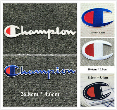 Iron-on/Sew-on Embroidered Patch pat1239 (Large Size) Champion Logo