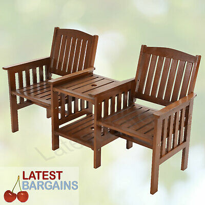 Jack & Jill Garden Bench Seat & Table 2 Seater Chair Outdoor Furniture Patio