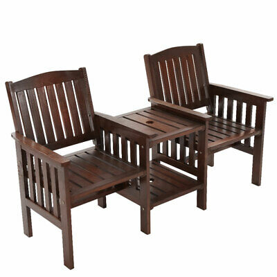 Jack & Jill Garden Bench Seat & Table 2 Seater Outdoor Furniture Patio Chair