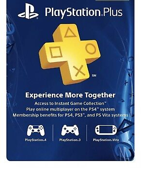 Sony PlayStation Plus 1 Year Subscription Membership Card - 3000133
