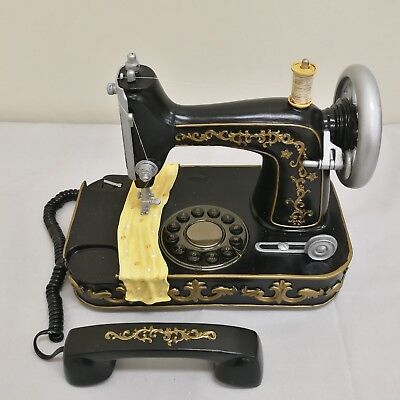 Sewing Machine Shaped Telephone Vintage Style Telephone Home Deco Telephone