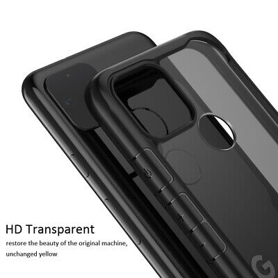 For Google Pixel 2 3A 4 XL Shockproof Slim Hybrid HD Clear Hard Back Case Cover