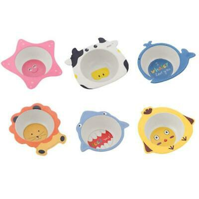 Lovely Baby Bowls Tableware Food Feeding Plate Bamboo Fiber Kids Dishes Cutlery