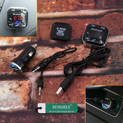 Latest Car Kit Handsfree LCD MP3 Player FM Transmitter Wireless Bluetooth USB/SD