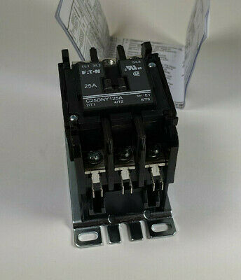 Eaton C25DNY125A Definite Purpose Contactor 25A 110/120VAC 3-Pole
