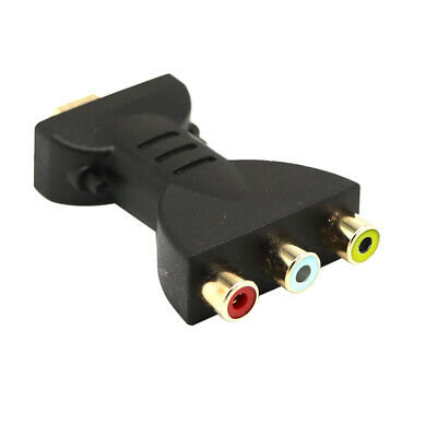 HDMI to 3 RCA Video Audio AV Adapter Component Converter for HDTV DVD Projector