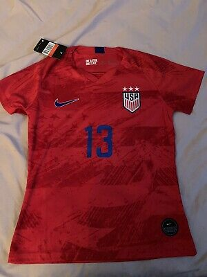 60e1e362913 Nwt Womens 2019 Nike Red Away #13 Alex Morgan World Cup Soccer Jersey Large