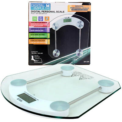Electronic Digital LCD Tempered Glass Bathroom Slim Body Weight Precision Scale