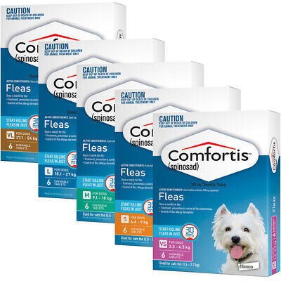 Comfortis Spinosad Flea Infestation Treatment Tablets for Dogs 6 Pack