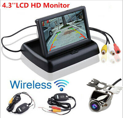 Wireless Car Reversing Rear View Backup Camera 4.3'' TFT LCD Parking Monitor Kit
