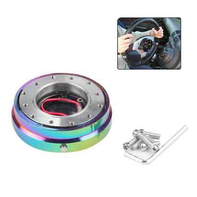Universal Aluminum Car Steering Wheel Quick Release Short Hub Adapter Colorful