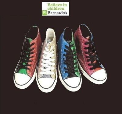 Womens Girls Glitter High top lace up plimsoll pumps canvas trainer shoes #A2089