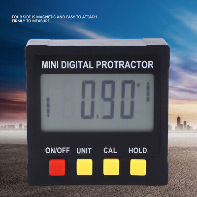 Electronic Digital LCD ABS 4Side Magnetic Inclinometer Angle Finer eveling4*90°