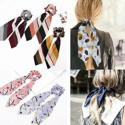 New Accessories Scrunchie Bow Hair Tie Rope Solid Floral Scarf Elastic Hair Band