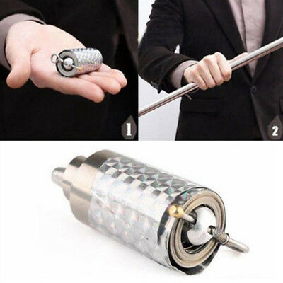 Silver Metal Appearing Cane Wand Stick Stage Magic Trick Baton Props Toy Supply