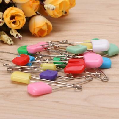 20Pcs Baby Infant Child Cloth Nappy Diaper Pins Safety Locking Holder Colorful