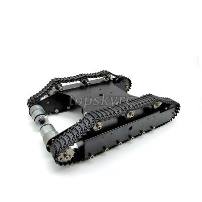 RC Tank Chassis Smart Robot Chassis KT100 w/ Motors Hall Encoder Finished DIY ts