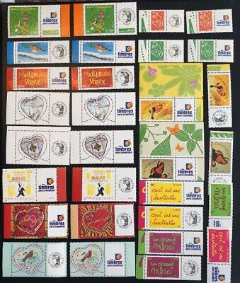 Timbres France Neufs  -Lot 30 timbres - MNH - Faciale 21,25€