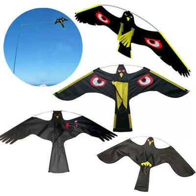 Black Flying Hawk Kite Bird Scarer For Garden Scarecrow Yard House Home Decor fs