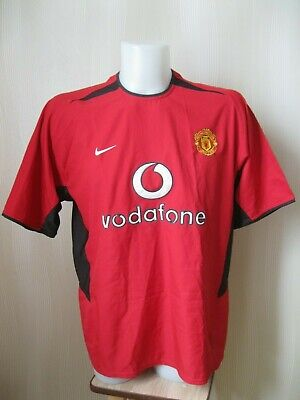 94c591cc4 Manchester United 2002 2003 2004 Home Size L Nike shirt soccer jersey  football