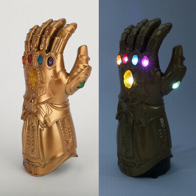 Kids Infinity Gauntlet LED Avengers Endgame Infinity War LED Gloves Cosplay Prop