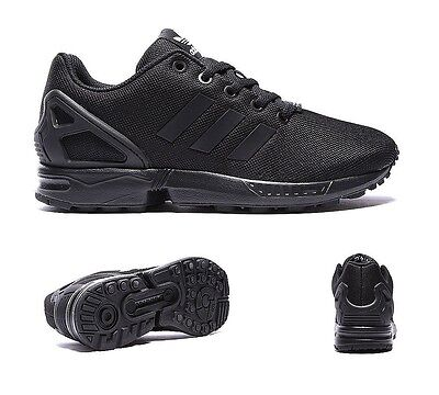 Junior Adidas ZX Flux Black Trainers