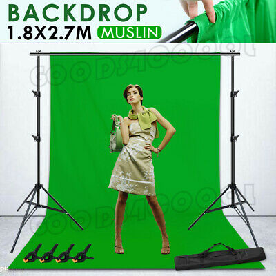 NEW-Adjustable Photography Background Support Stand Photo Backdrop Crossbar Kit