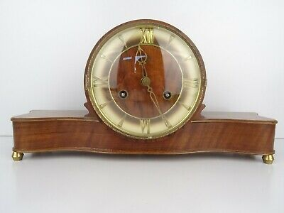 German JUBA Vintage Clock Design Antique Shelf Mantel Clock (Kienzle HERMLE Era)