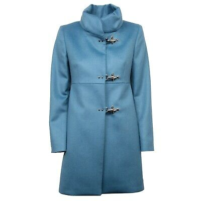 1e9bfb6fe1ea F8708 cappotto donna FAY light blue wool/cashmere jacket coat woman