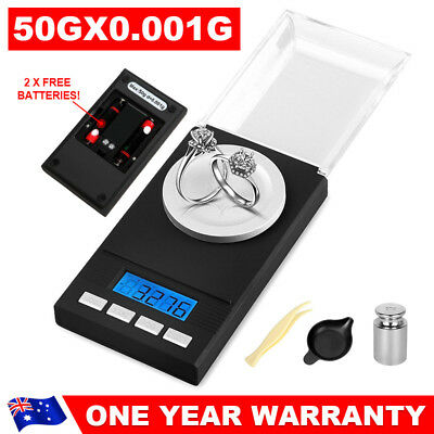 LCD Digital Milligram 50g/0.001g High Precision Mini Electronic Jewelry Scales