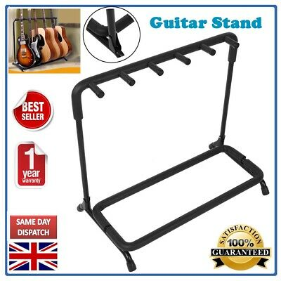 Guitar Stand Holder 5 Spaces Display Stand Rack Organizer Instrument Accessory