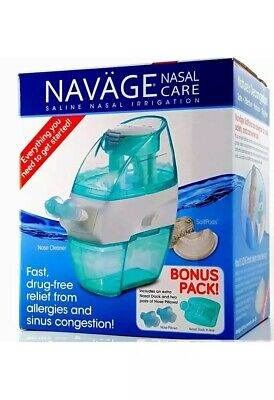 Navage Nasal Care Saline Nasal Irrigation w/Bonus Pack Extras + 18 SaltPods NEW!