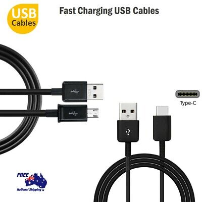 FAST Charger Micro USB Cable & USB Type C To USB Cable For Samsung Galaxy S9/S9+