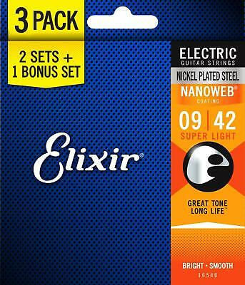 Elixir - 16540 - Nanoweb 12002 Super Light Electric (3 Paquet)