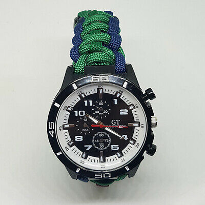 Paracord Watch with The Argyll and Sutherland Highlanders Colours a Great Gift