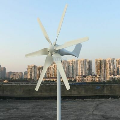 800w 12v 24v Wind Turbine with 6 Blades and PWM charge controller for Home use