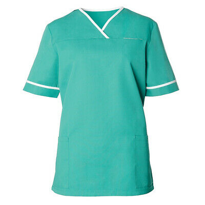 Alexandra Womens NHS Nurse Healthcare Health Contrast Trim Scrub Tunic - HP21