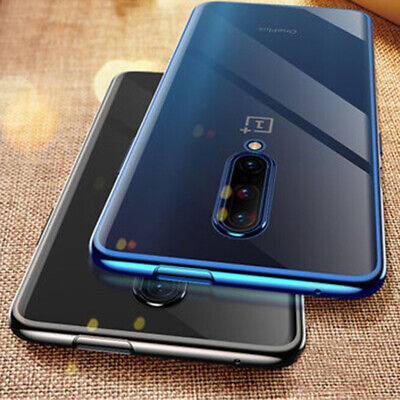 For OnePlus 7 Pro 6T 5T Ultra-thin Electroplating Clear Soft Silicone Case Cover