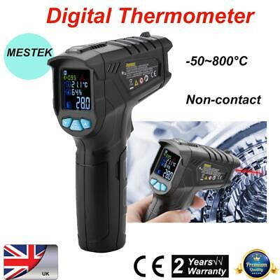 MESTEK IR01D -50~800°C Non-contact Infrared Digital Thermometer Humidity Meter
