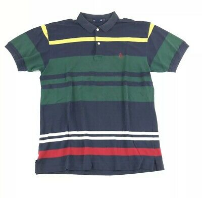 6d757ffd3d6 NAUTICA RUGBY POLO Vintage 90s Style Color Block Green Blue Yellow ...