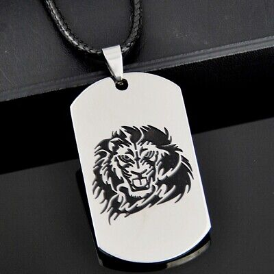 10PCS Cool engrave Lion stainless steel pendant necklace
