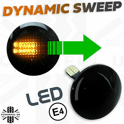 Dynamic sweep LED Smoked SIDE REPEATERS wing Indicators fits Range Rover L322