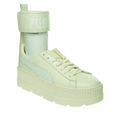 PUMA WOMEN'S ANKLE Strap Lace Up Sneakers Vanilla Ice White