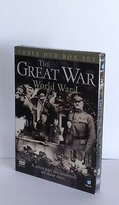 THE GREAT WAR World War 1 Documentary 1914 Somme 3 Discs Box Set DVD Free P&P